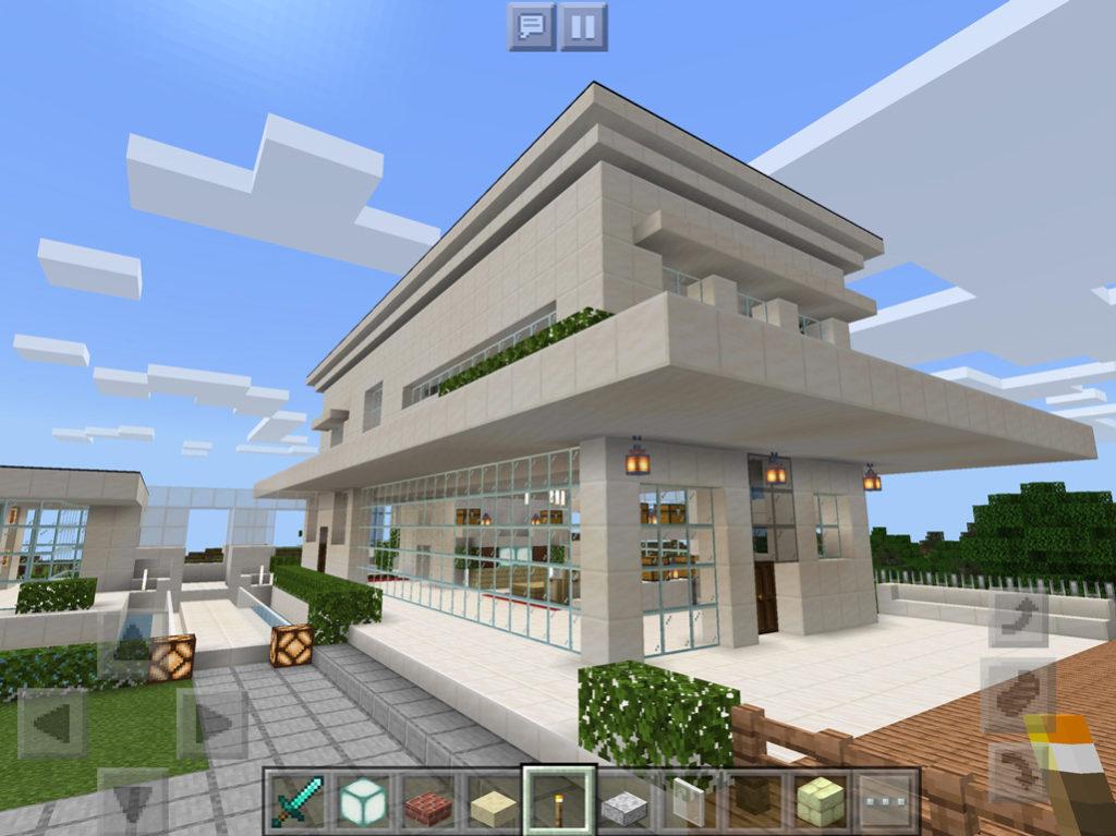 【マインクラフト建築】おしゃれでモダンな家の外観【マイクラ 】