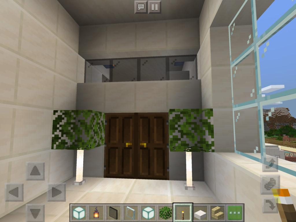 【マインクラフト建築】おしゃれでモダンな家の主寝室の入り口【マイクラ 】