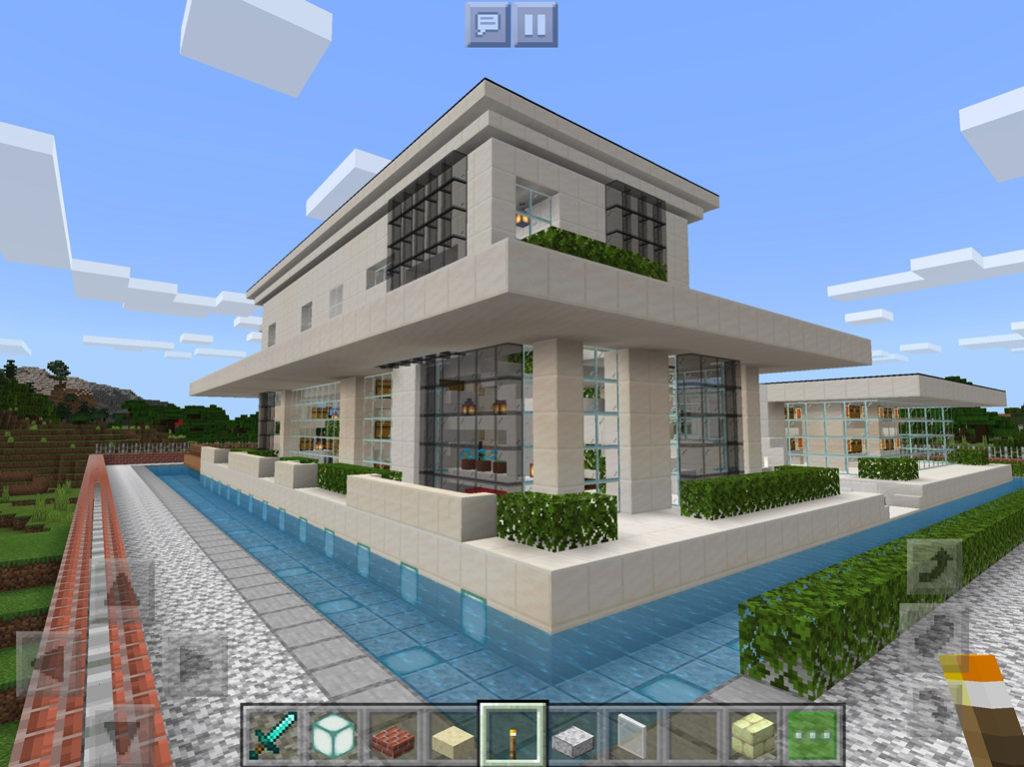 【マインクラフト建築】おしゃれでモダンな家 自宅の裏側【マイクラ 】