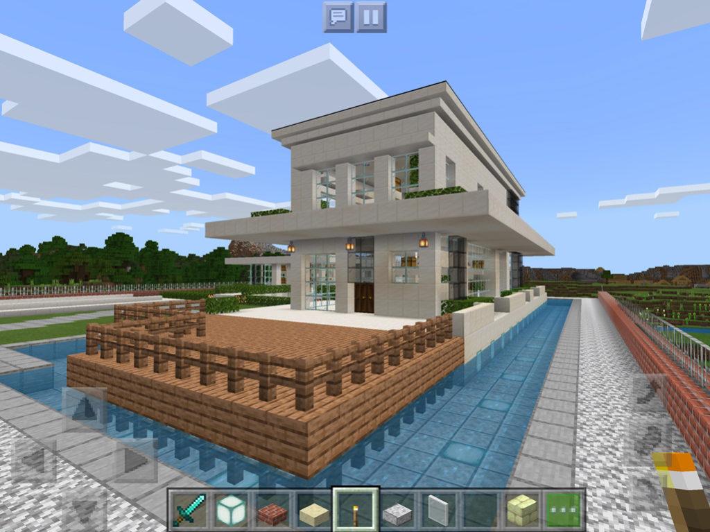 【マインクラフト建築】おしゃれでモダンな家 ウッドデッキ【マイクラ 】
