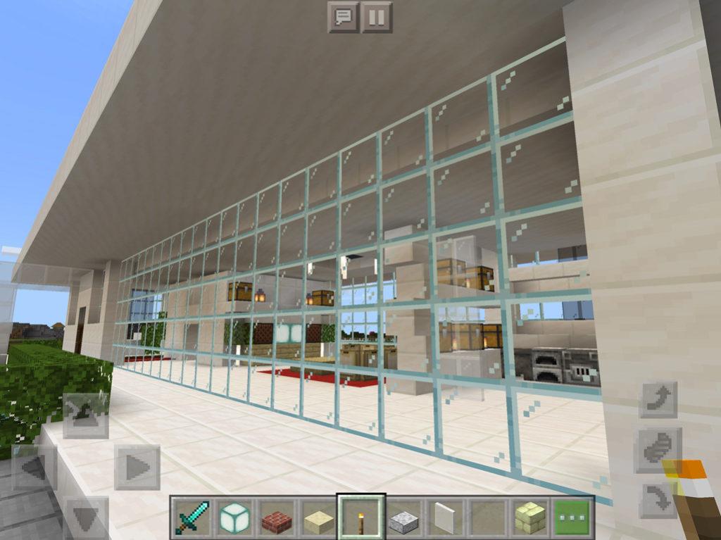 【マインクラフト建築】おしゃれでモダンな家1階【マイクラ 】