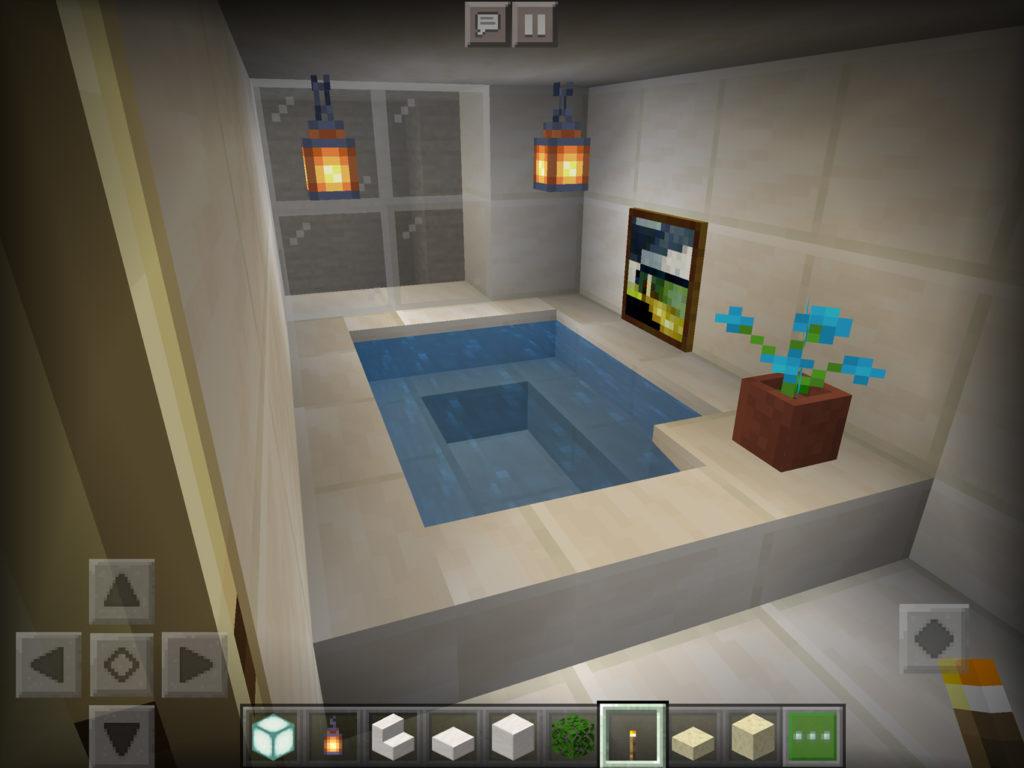 【マインクラフト 】ブランチマイニング 場にお風呂を作った【マイクラ】