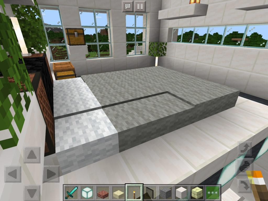 【マインクラフト建築】おしゃれでモダンな家の主寝室 ダブルベッドの作り方【マイクラ 】