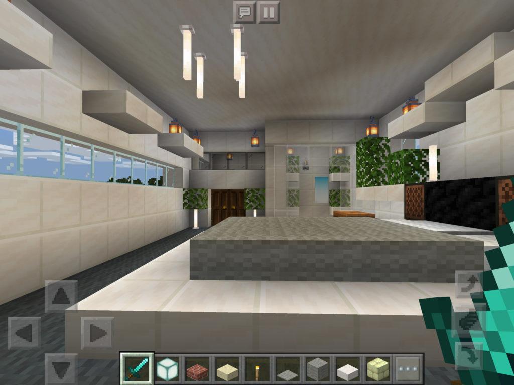 【マインクラフト建築】おしゃれでモダンな家の主寝室の内装【マイクラ 】
