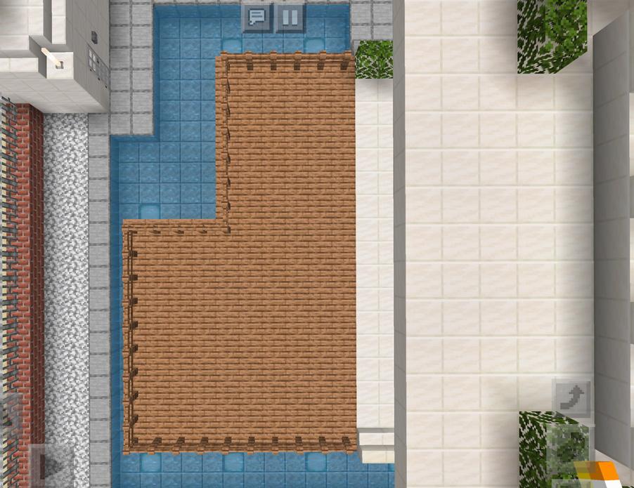 【マインクラフト建築】おしゃれでモダンな家 上から見たウッドデッキ【マイクラ 】