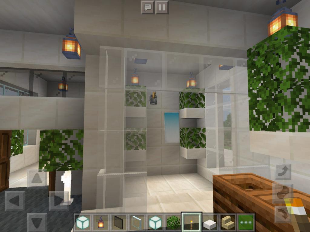 【マインクラフト建築】おしゃれでモダンな家の主寝室のシャワールーム【マイクラ 】