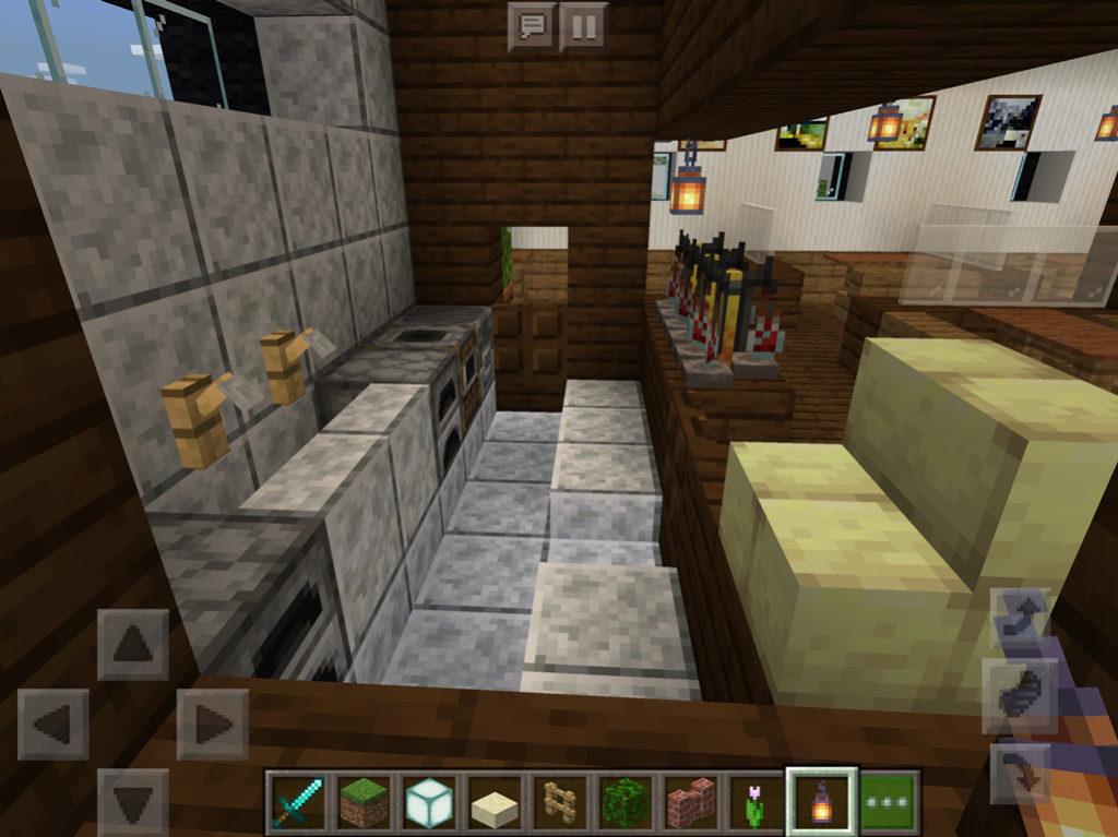 【マインクラフト建築】おしゃれで落ち着いたカフェの厨房【マイクラ 】