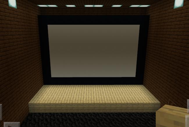 【マイクラ】映画のスクリーンと舞台部分
