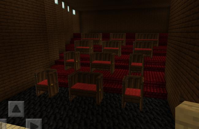 【マイクラ】映画館の座席(個室風)