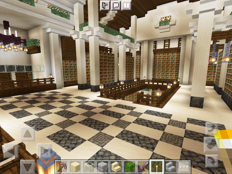 【マインクラフト建築】図書館3階【マイクラ】