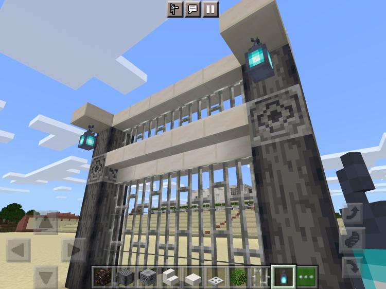 【マインクラフト建築】下付きで設置したクォーツのハーフブロックに魂のランタンをぶら下げます【マイクラ】