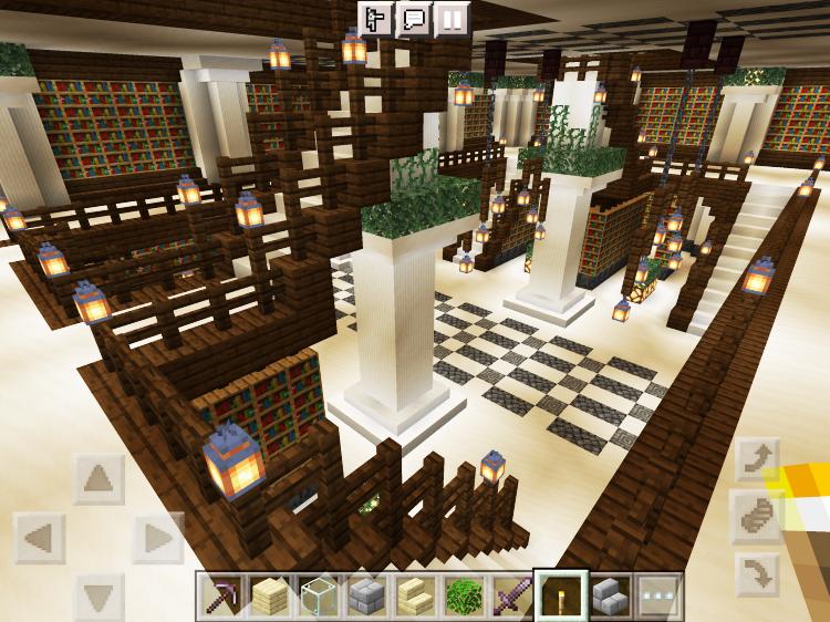 【マインクラフト建築】図書館2階の様子【マイクラ】