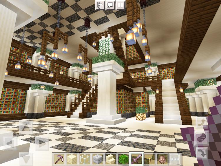 【マインクラフト建築】渓谷の図書館1階【マイクラ】