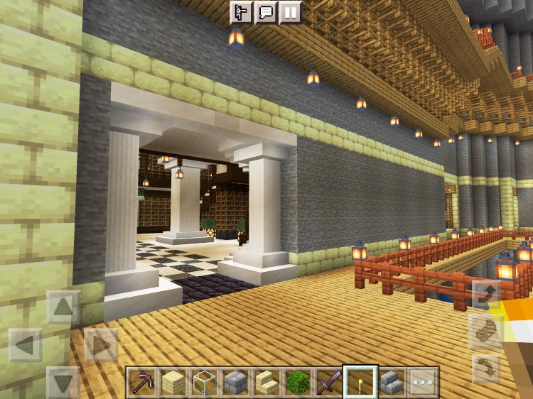 【マインクラフト建築】図書館1階のエントランス【マイクラ】